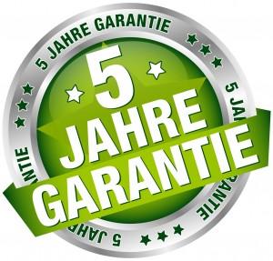 """Button Banner """"5 Jahre Garantie"""" grün/silber"""